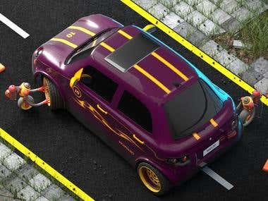 3D Car Render