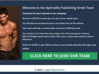 Landing Page for Aphrodite Publishing