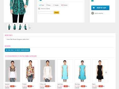 BellaStiles.com - eCommerce website with using Prestashop