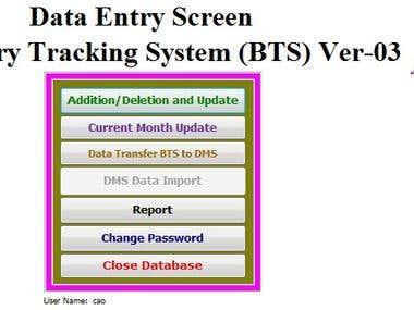 Developing database software