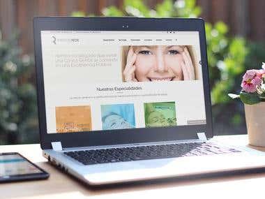 Desarrollo web para Web Clínica dental Rodriguez Recio