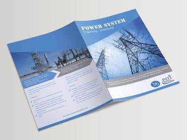 "Bi-fold Brochure Design ""TRAINING INSTITUTE""."