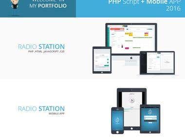 Radio Station Script & Mobile App