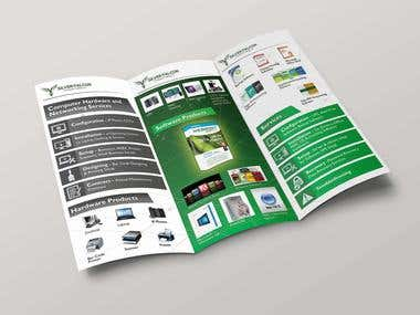 "Tri Fold Brochure for ""SILVER FALCON"""
