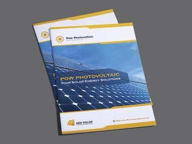 "Bi-fold Brochure Design for ""SOLAR  COMPANY""."