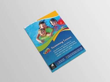 "Bi-fold brochure design for ""AQUA-ZONE""."