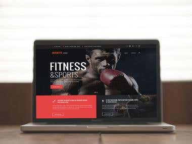 Gym and Fitness Site