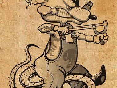 Vintage rat-bully