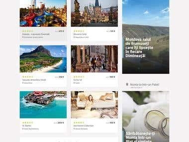 Travel Company Concept Web Design