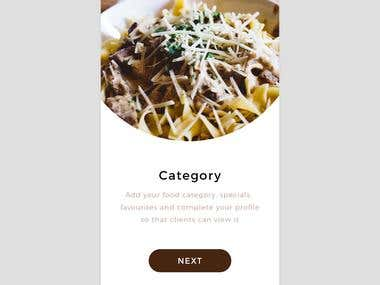 Chef Finder App Design