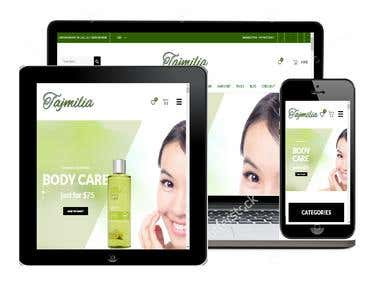 Online Store with Responsive Design
