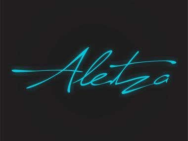 Logotipo desenvolvido para marca Aletza Shoes