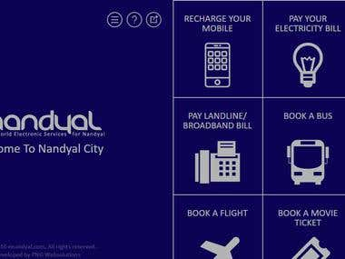eNandyal.com - Local area website with online features