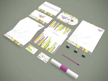 Candy Shop Branding Stationery