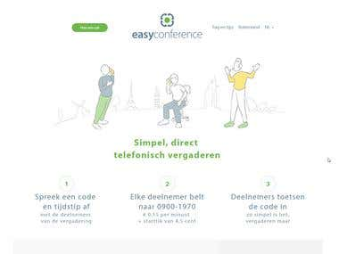 Easyconference - PSD to HTML + Wordpress