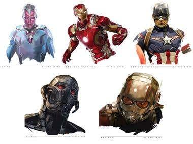 Avengers Digital Paintings