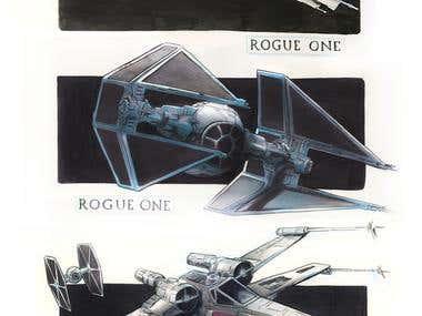 STAR WARS Copic Marker Studies