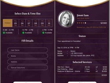 Salon Mobile Application