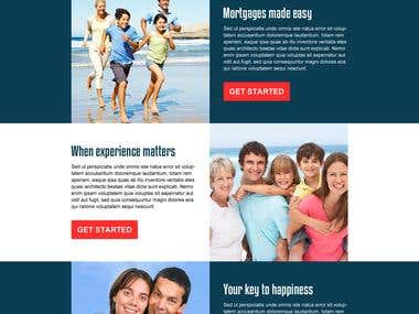 Single page portfolio website.