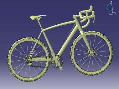 design a bicycle based on real image.