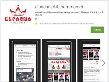 application mobile elpacha club hammamet