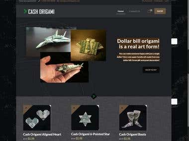 Cash Origami - Dropshipper Wordpress Business Website