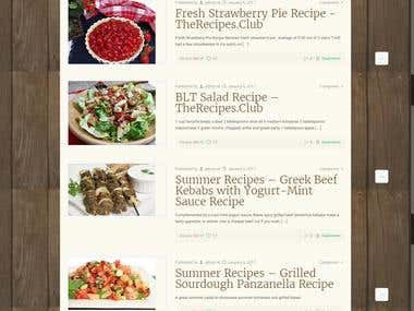 The Recipes Club - Recipes Blog Website