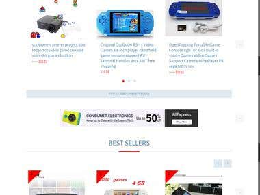 Video Games Mini - Alibaba Affiliate Niche Website