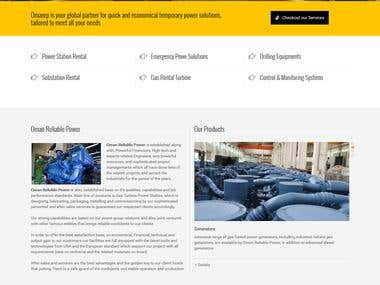 website for power station in wordpress