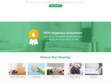 Cleaning Service website in wordpress