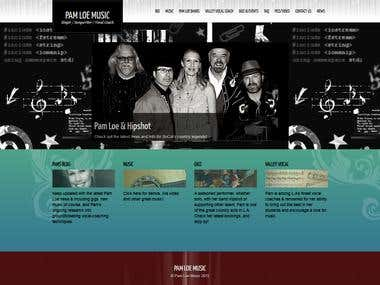 Vocal Artist website in wordpress