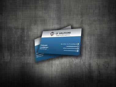 """OT Solutions"" Business card"