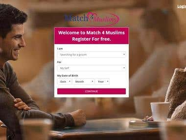 Match4muslim Online dating Website with Android & IOS