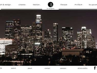 Website for portfolio in wordpress