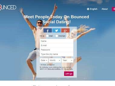 Bounced Online dating Web with Android & IOS