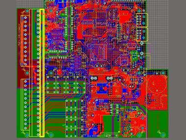Four layers PCB.