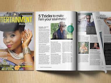 Afrikazik - Magazine Design