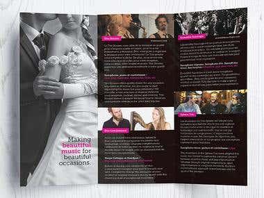 Wedding Music Planner - Brochure Design
