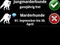 Jagdzeiten Android Mobile App