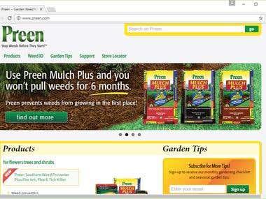 Responsive website: Preen.com
