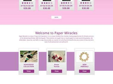 paper-miracles website design and Development