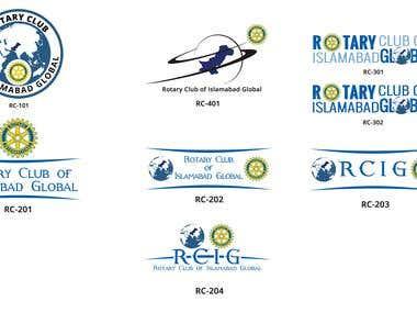 Rotary Club-Islamabad Logo Designs