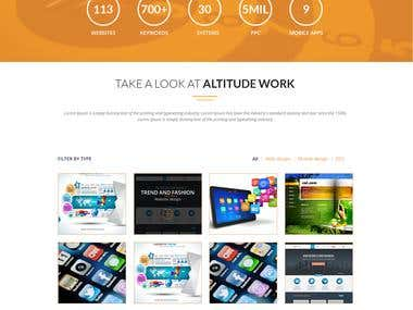 ALTITUDE_ sample website Design