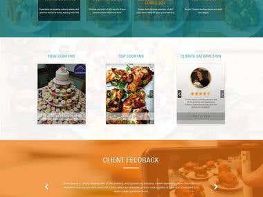 Restaurant sample website Design.