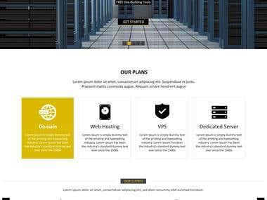 Hosting website Design and coding.