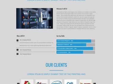 Networking Website design sample.