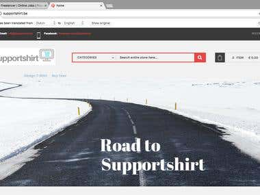 T-shirt designing website with E commerce work using Magento