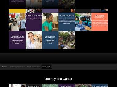 Career Website using java