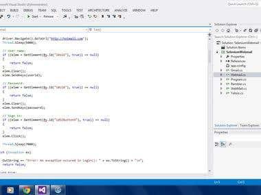 Automation using selenium webdriver + .Net C#