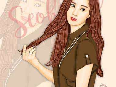 [Vector] Seohyun Girls Generation